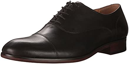 Aldo Men's Giosafat Oxford with Toe Cap, Black Leather, 9.5 D US