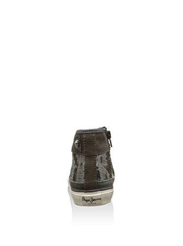 Pepe Jeans London  Industry Sequin, Mädchen Sneaker, Grau - Gris - Größe: EU 39