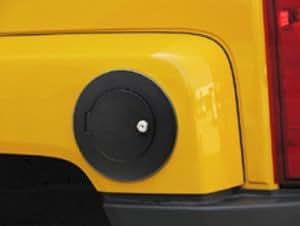 Hummer H3 Black Billet Locking Fuel Door 2006, 2007, 2008, 2009, 2010