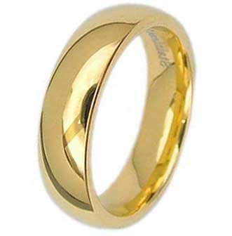 5MM High Polished Stainless Steel Gold Plated Wedding Band