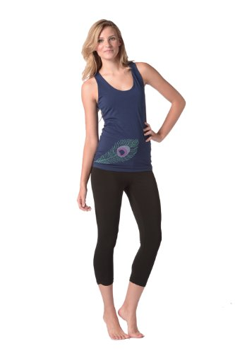 Peacock Chakra Tank Sapphire In Xs front-327644