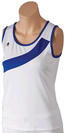 DUC Overload Women's Tank Top Shirt - White/Royal (LG)