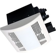 Airzone Fans Pa1100Vle Premium Ultra Quiet Exhaust Ventilation Fan With 18W Fluorescent Lamps And Electronic Ballast, Ac Motor, 1.3 Sones, 110 Cfm