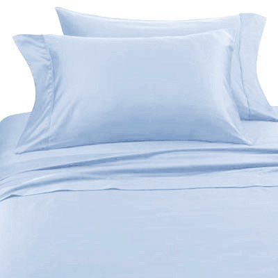 Blue Hotel Spa Collection 4 piece Sheet Set - 300 Thread Count - 100% Cotton - Available in King and Queen