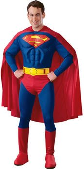 Deluxe Superman Muscle Chest Adult Costume