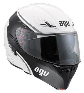 AGV Helmets 1021a2ey Casco da Moto, Multicolore (Course Bianco/Gunmetal), XL