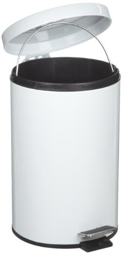 "Rubbermaid Commercial Steel 3.5-Gallon Medi-Can Step Trash Can with Plastic Liner, Round, 15.75"" Height, White at Sears.com"
