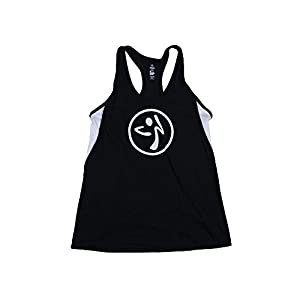Zumba Wear Women's Color Blocked Racerback Bubble Top