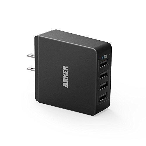 Anker 36W 4ポート USB 急速充電器 PowerIQテクノロジー搭載 71AN3654WS-BA