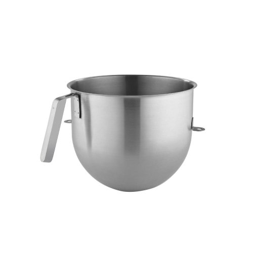KitchenAid KSMC8QBOWL 8 Quart NSF Certified Polished Stainless Steel Bowl with J Hook Handle, Stainless Steel On Sale