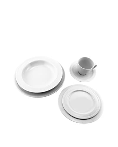 BergHOFF Elan 20-Piece Dinnerware Set, White