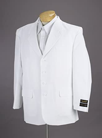 New Men's 4 Button Single Breasted White Business Dress Suit