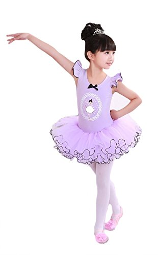 AveryDance Girl's Cap Sleeve Tutu Dress Ballet Dance Costume
