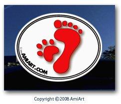 Paw Print Decal-Show That I Love My Dog Cat Pet Animal Paw Print Window Sticker For Cars Trucks Walls Laptops