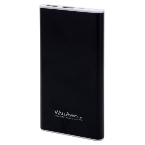 WallAway Lurary-BK 6900mah slim and light weight Mobile charger high capacity power pack for Apple: Iphone 5s, 5c, 5, 4s, 4, Ipad 4, Ipad Air, the New Ipad, Ipad Mini, Samsung Galaxy S5, S4, S3, S2, Note 3, Note 2, htc One, Evo, Droid Dna, Motorola Atrix, Droid, Google Glass, Nexus 4, Lg Optimus,smart Watch,bluetooth Speakers or Headsets and Most Other Android Smart Phones, Kindle and More Other Usb-charged Devices Devices(Black)