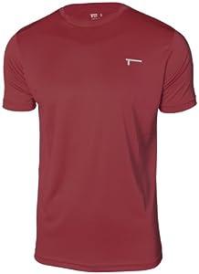 TREN Herren Ultra Lightweight Polyester Funktionsshirt T-Shirt Maroon 610 - XXL
