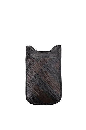 Porta iPhone Burberry Uomo Tessuto Nero 3767986 Nero 8x13 cmEU