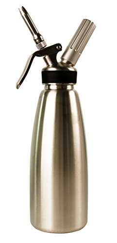 Mosa 1 Quart 100% Stainless Steel Professional Whipped Cream Dispenser