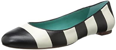 kate spade new york Women's Tanya Flat,Black/Cream,5.5 M US