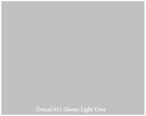 "12"" X 10 Ft Roll Of Glossy Oracal 651 Light Gray Repositionable Adhesive-Backed Vinyl For Craft Cutters, Punches And Vinyl Sign Cutters By Vinylxsticker front-881625"