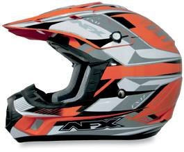 AFX FX-17 Off-Road/ATV Motorcycle Helmet Multi Orange XXL