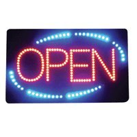 Led Open Sign, Acrylic, Square, 22.75Inch X 13.75Inch X 1Inch