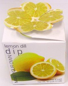 Foxy's Gourmet Lemon Dill Dip * Gluten Free No MSG No Preservatives MIX-DIP/LEMON DILL