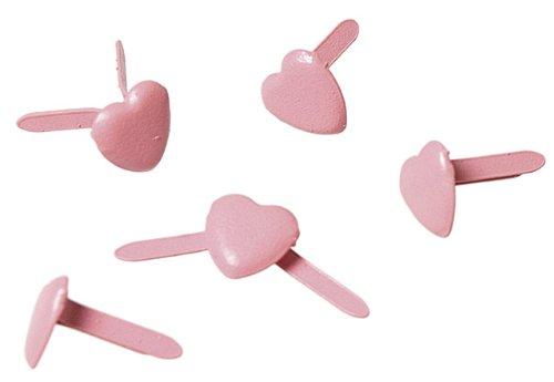 RAYHER - 7835116 - tachuelas en forma de corazón, 4 mm, diseño 100 pcs, Rosa