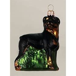 Rottweiler Ornament set of 6