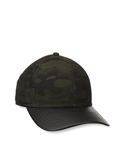 Gents Men's Camo Leather Brim Hat