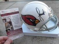 Larry Fitzgerald signed Arizona Cardinals mini helmet JSA COA by Riddell