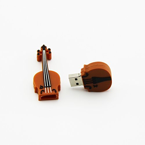 CHUYI Cartoon Guitar Violin Shape 8GB 8G Gift USB Flash Drive USB Flash Disk Pen Drive Memory Stick Pendrive Brown Color
