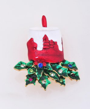 Burning Candle Pin Brooch