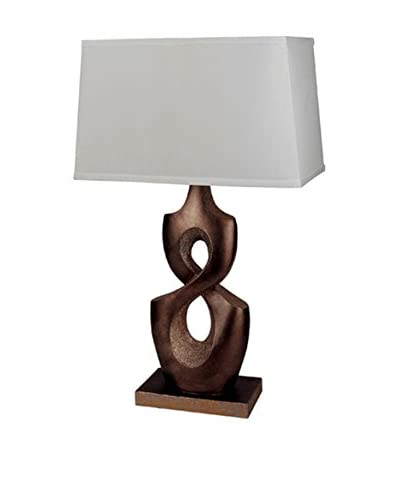 ORE International Infinity Table Lamp, Bronze