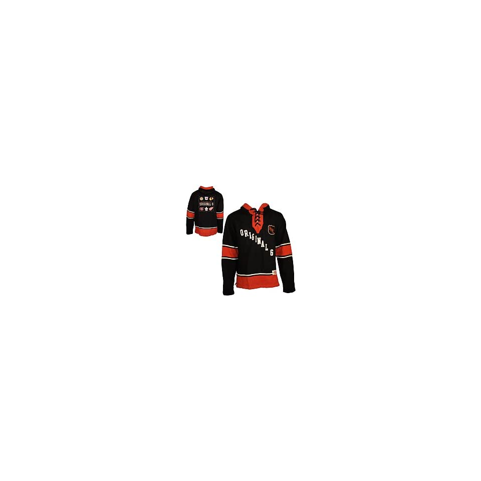 fe7f91786 Old Time Hockey Original 6 The Lace Hooded Sweatshirt NHL ORIGINAL SIX XX  Large