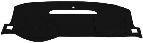 Chevy Cavalier Dash Cover Mat Pad - Fits 1995 - 2005 (Custom Velour, Black) (Dash Cover Cavalier 2000 compare prices)