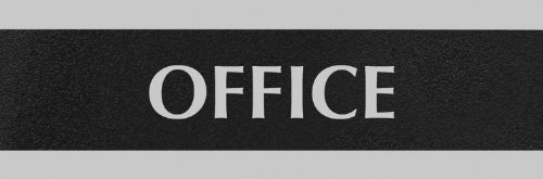 U.S. Stamp & Sign Headline Century Series 3X9 Inch Office Sign, Black And Silver, 4762