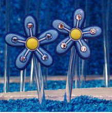 Budclicks Blue Pinflower W/ Rhinestone
