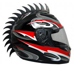 Motorcycle Dirtbike Snowmobile Atv Saw Blade Helmet Warhawk Helmets Mohawk Helmet Not Included from shubanditcompanyllc