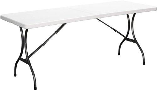 Duralight HDPE Folding Multipurpose Table, 8-Feet, White Granite