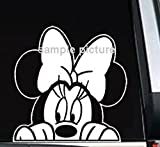 Minnie Mouse Peeking Car Truck Window Sticker Decal -SMMP005- 5L