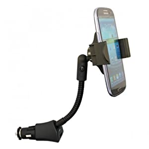 Fonus Universal Rotatable Car Mount Lighter Socket Holder Dock with USB Charging Port for Apple Iphone 5 (All carriers including AT&T, Sprint, Verizon and Unlocked)