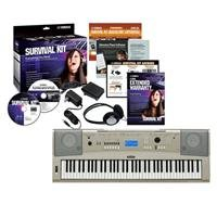 Yamaha YPG235 76-Key Portable Keyboard with Survival Kit D2, 6-Track Sequencer, USB Connectivity by YAMAHA