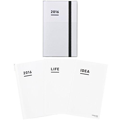 コクヨ ジブン手帳 2016年 ファーストキット 11月始まり A5スリム ホワイト ニ-JF1W-16 -