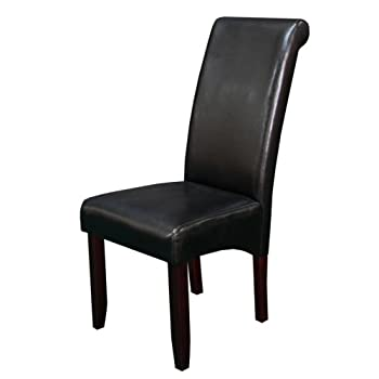 Monsoon Pacific 222243 Milan Faux Leather Dining Chairs, Black