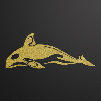 Killer Whale orca... Gold-Matte (10 X 4 inch) XRKR3