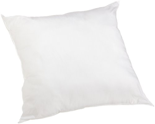 Perfect Fit 180 Thread-Count Cotton Euro Square Pillow, White