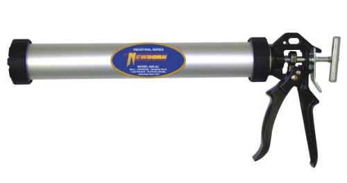 Newborn Aluminum Round Rod Caulk Gun, 20oz Sausage/20oz Bulk, 18:1 Thrust Ratio