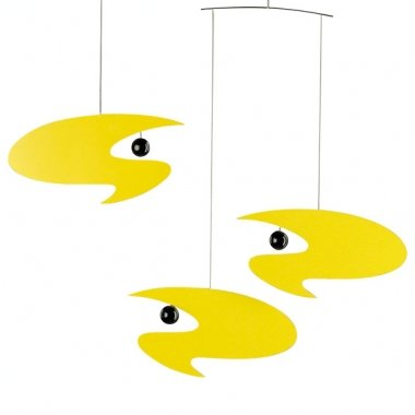 Flensted Mobiles Nursery Mobiles, Stella Nova, Yellow