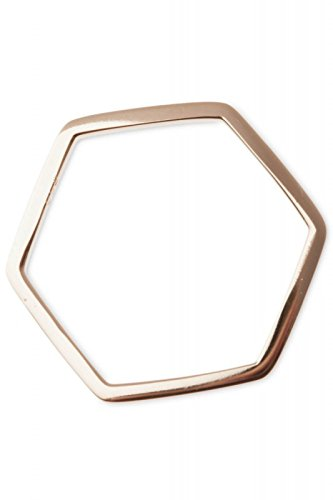 Ring in Hexagon-Form, 18 Karat vergoldet